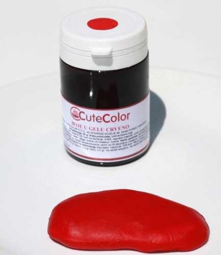Jestive boje u gelu Crveno 30 gr