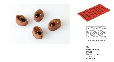 silikonski kalup microsavarin fr074