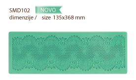 Silikonska šablona za izradu jestive čipke SMD 102