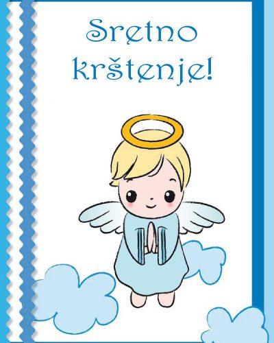 sretno krstenje plavo