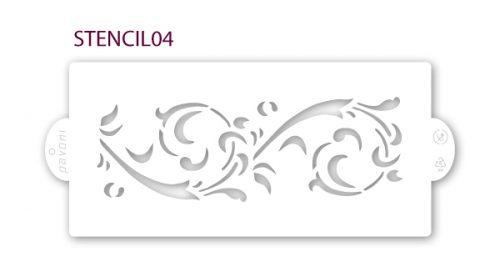 stencil-04-pavoni-šablona-za-dekoraciju-kolača
