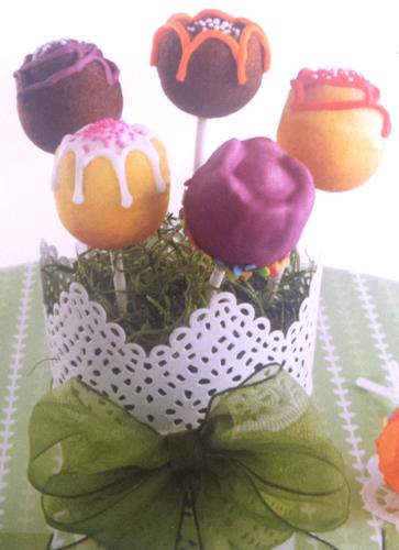 Recept za cake popse- Decorated flowers