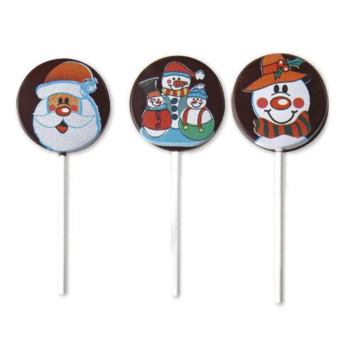 Kalupi za čokoladne lizalice sa novogodišnjim motivima 2
