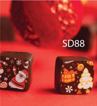 SD88 CHOCOTRANSFER FOLIJA SA MOTIVIMA ZA BOZIC I NOVU GODINU