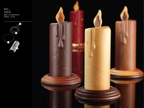 Kalup za čokoladu Božićna svijeća