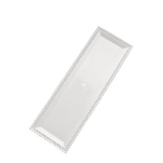 Tacna za kolače pravokutna Bijela 35 x 13 cm