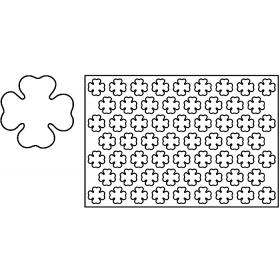 Plastični izrezivač za kekse 60×40 cm Četverolist