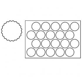 Plastični izrezivač za kekse 60x40 cm Nazubljen PF1