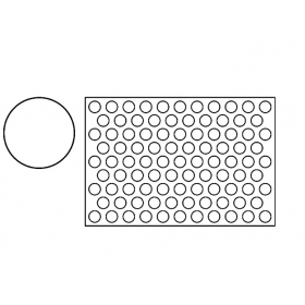 PLASTIČNI IZREZIVAČ ZA KEKSE 60×40 CM OKRUGLI