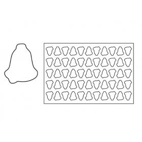 Plastični izrezivač za kekse 60x40 cm Zvono