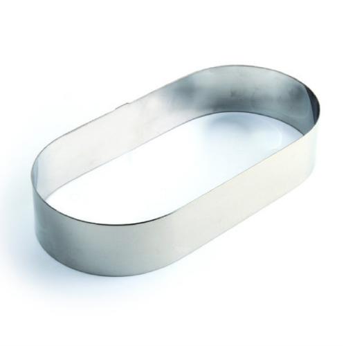 Inox prsten za torte i kolače Ovalno h 4cm