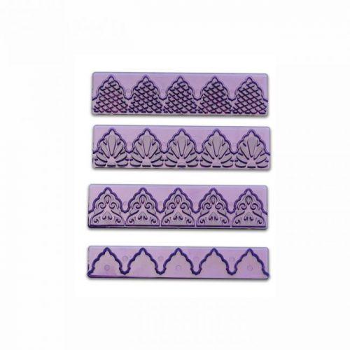 Set od tri šablone i izrezivač za ukrašavanje torti NO100