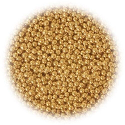 Šećerne perlice zlatne 6 mm
