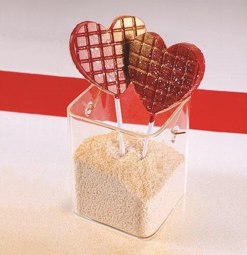 Kalup za čokoladne lizalice Srce