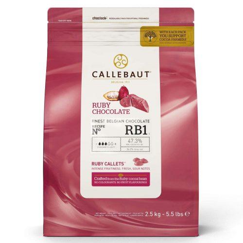 Ruby čokolada Callebaut 47%