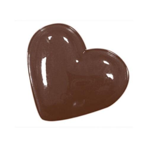 Kalup za čokoladne dekoracije/praline Srce dim.52x42 h12 mm