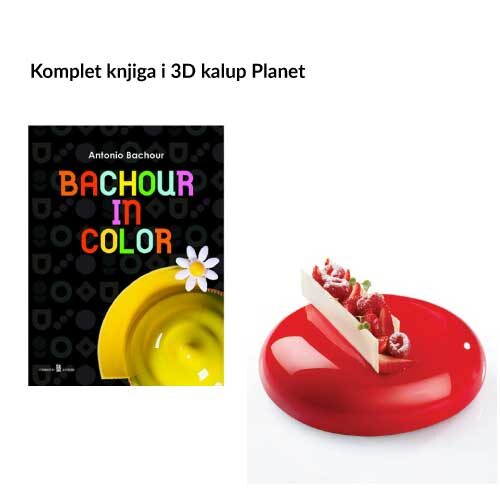 Knjiga Antonio Bachour: Bachuor in color +kalup Planet 3D
