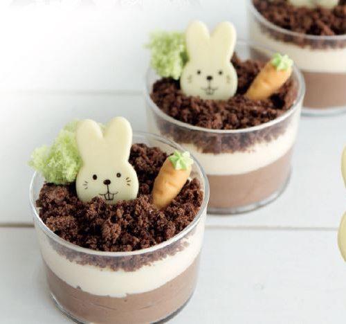 Gotove dekoracije belgiskom čokoladom. uskrsni zeko. čokoladne jestive dekoracije