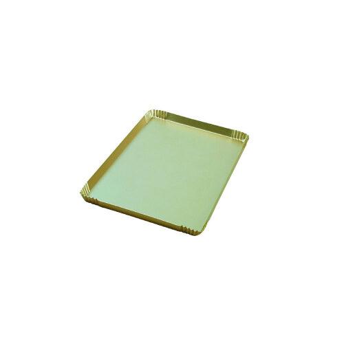 Zlatna tacna za izlaganje kolača i torte za vetrine