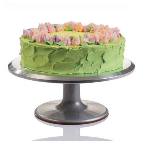 Inox rotirajući stalak za izradu i dekoraciju torti promjera 29 cm