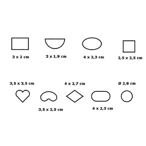 Set mini metalni izrezivač
