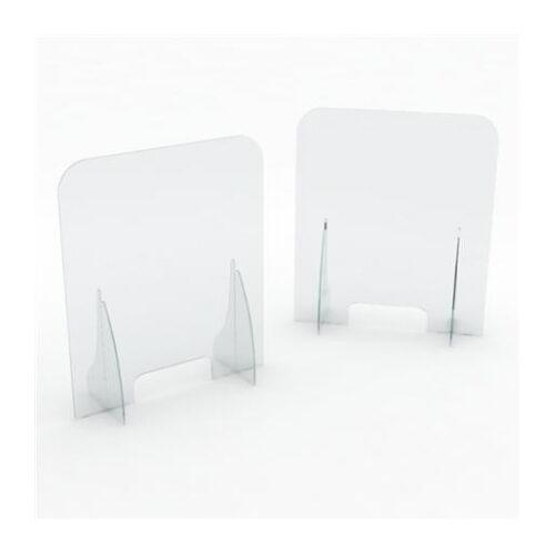 Zaštitna pregrada od pleksiglasa s prozorom Mod. B 800X300 H 900 MM