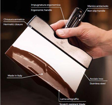 Rezač za tijesto-špatula za čokoladu od inoxa 200 mm