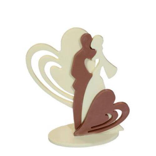 Kalup za izradu svadbenih topera od čokolade ili isomalta srce 2