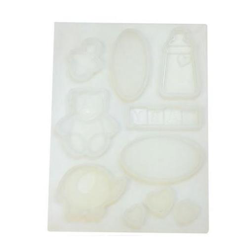 Silikonski kalup za izradu topera od čokolade ili isomalta- Krštenje