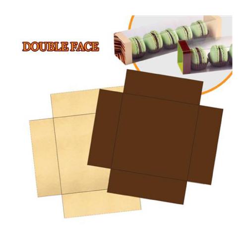 Zlatno / smeđa kartonski čepovi za Mart Box- 100 kom.