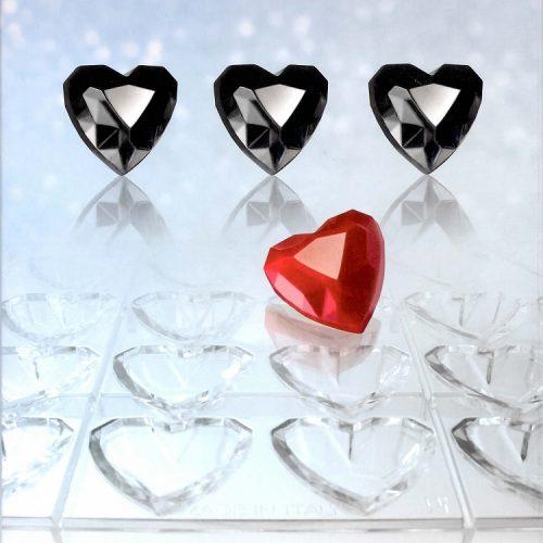 Polikarbonatni kalup za praline Dijamantno srce
