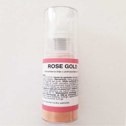 Rose Gold pumpica jestiva boja
